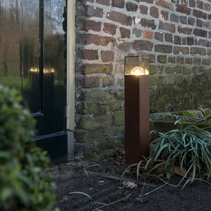 Lampadaire-industriel-extérieur-50-cm-brun-rouille-IP44---Danemark