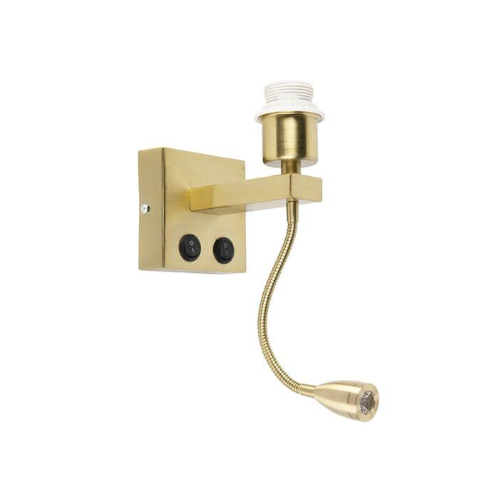 Applique-moderne-or-avec-bras-flexible---Brescia-Combi