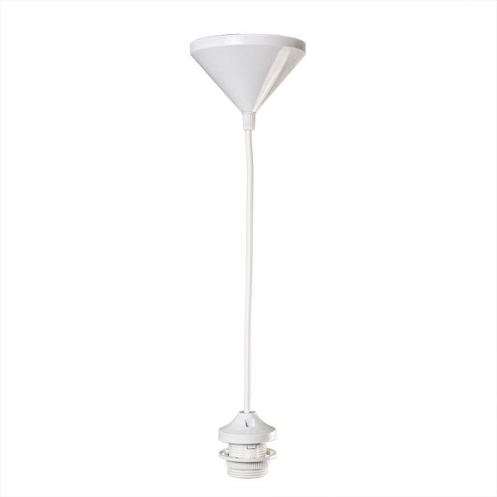 Suspension-30cm-E27-blanc