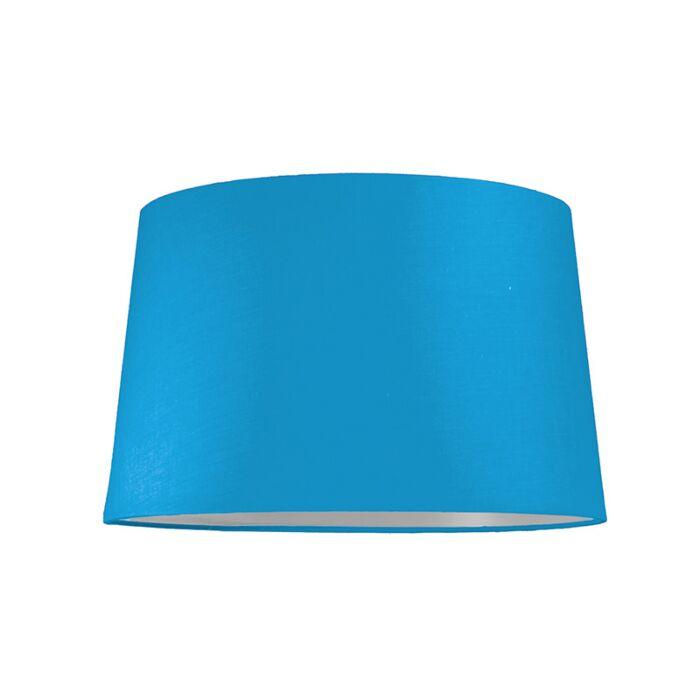 Abat-jour-40cm-rond-SU-E27-bleu-clair