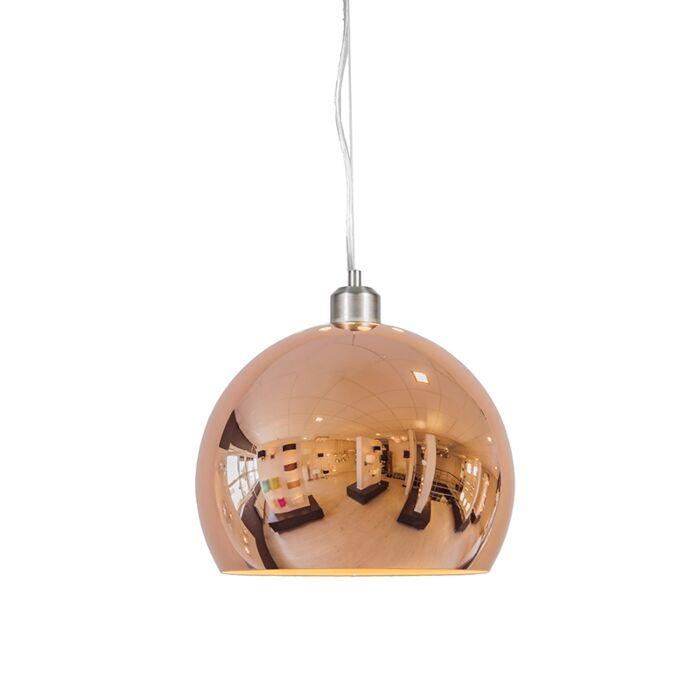 Suspension-Globe-28cm-cuivre