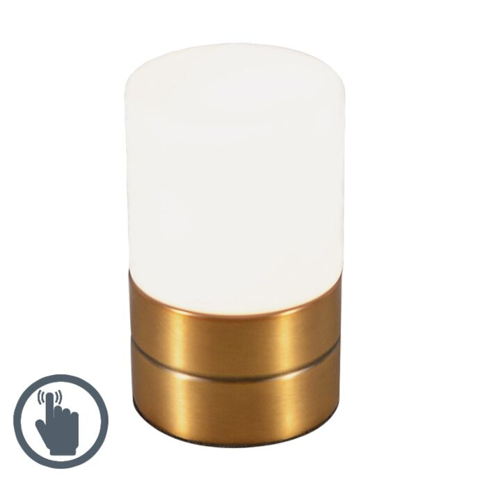 Lampe-de-table-Touch-Me-rond-bronze