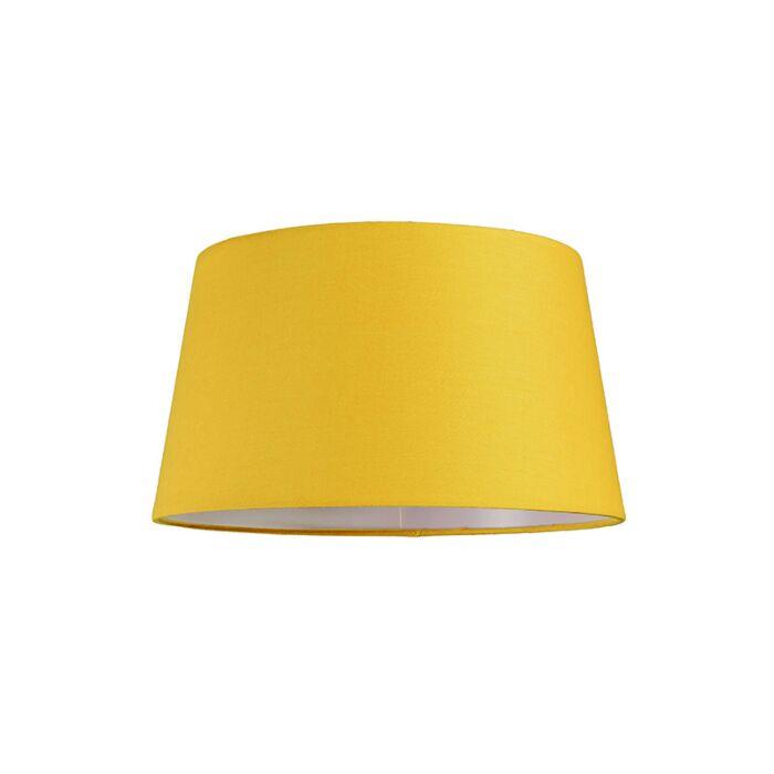 Abat-jour-30cm-rond-SU-E27-jaune