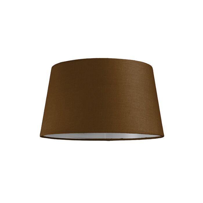 Abat-jour-30cm-rond-SU-E27-brun