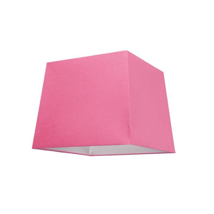 Abat-jour-30cm-carré-SU-E27-rose