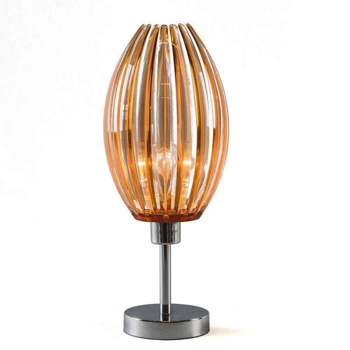 Lampe-de-table-Jarno-chrome-ambre