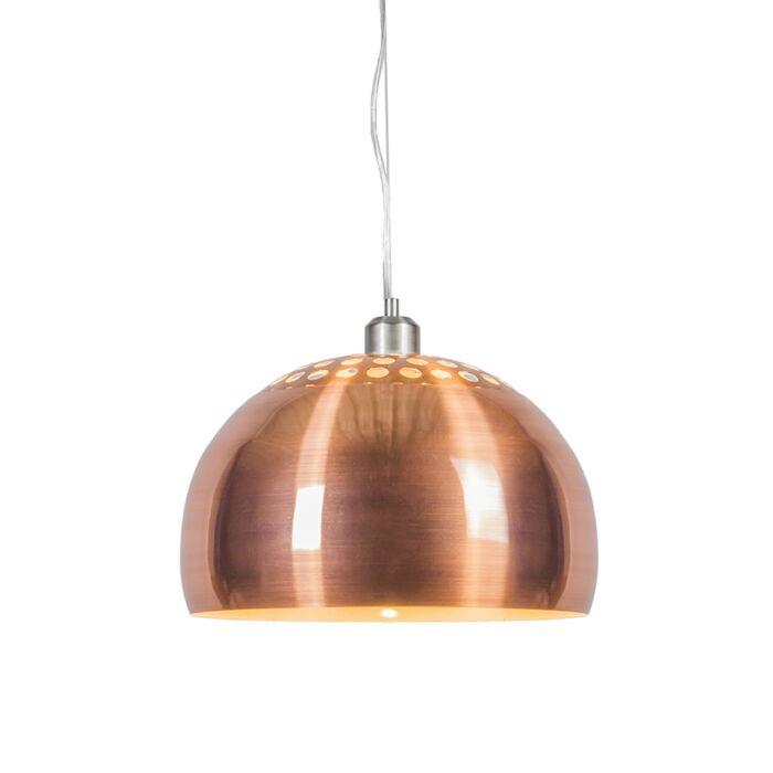 Suspension-Globe-33cm-cuivre-mat