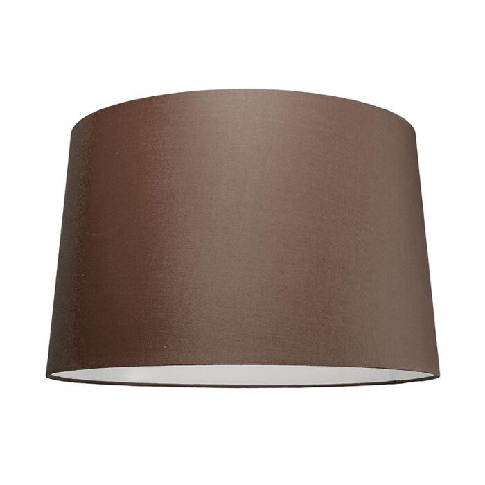 Abat-jour-50cm-rond-SU-E27-brun