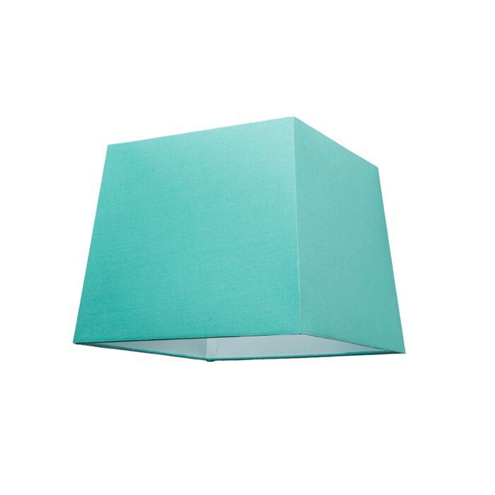 Abat-jour-30cm-carré-SU-E27-turquoise