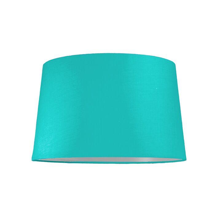 Abat-jour-40cm-rond-SU-E27-turquoise