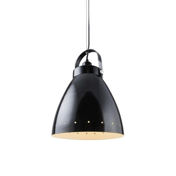Lampe-à-suspension-scandinave-noire-inclinable---Rytel