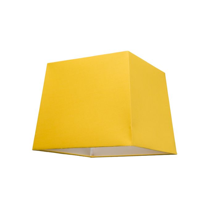 Abat-jour-30cm-carré-SU-E27-jaune