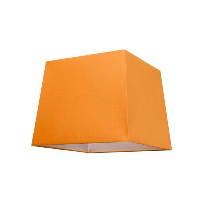 Abat-jour-30cm-carré-SU-E27-orange