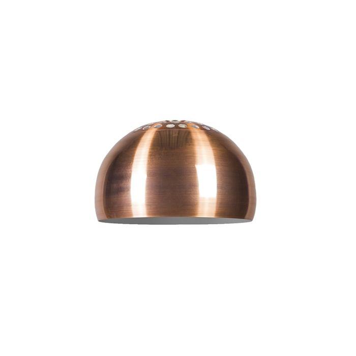 Abat-jour-Globe-33cm-cuivre-mat