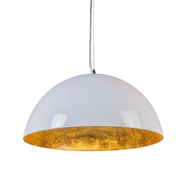 Suspension-Magna-Glossy-55cm-blanc-et-doré