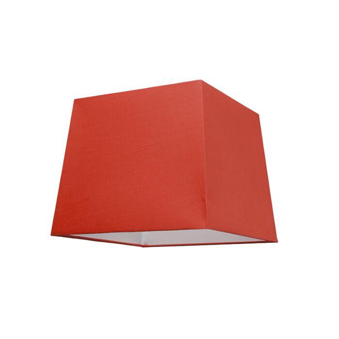Abat-jour-30cm-carré-SU-E27-rouge