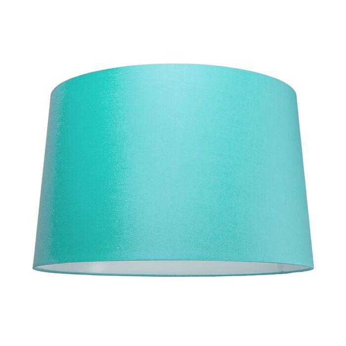 Abat-jour-50cm-rond-SU-E27-turquoise