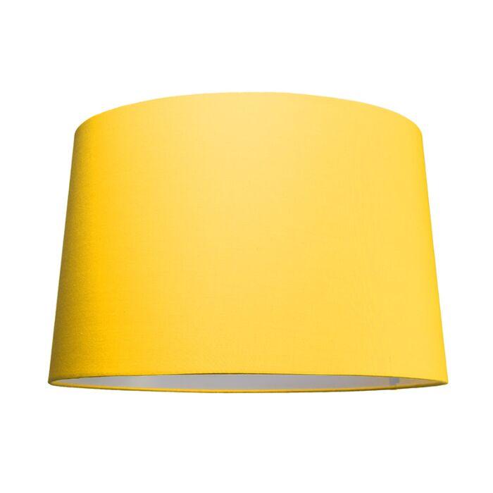 Abat-jour-50cm-rond-SU-E27-jaune