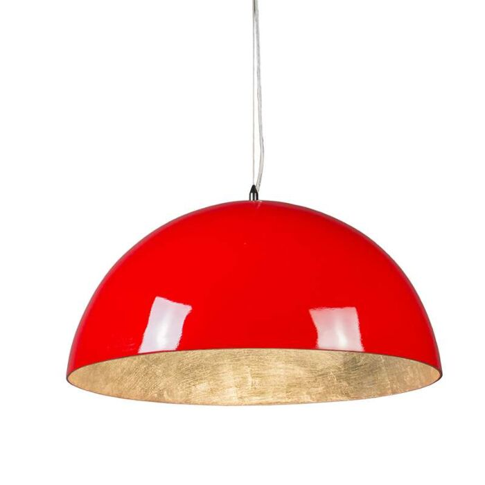 Suspension-Magna-Glossy-55cm-rouge-et-argenté