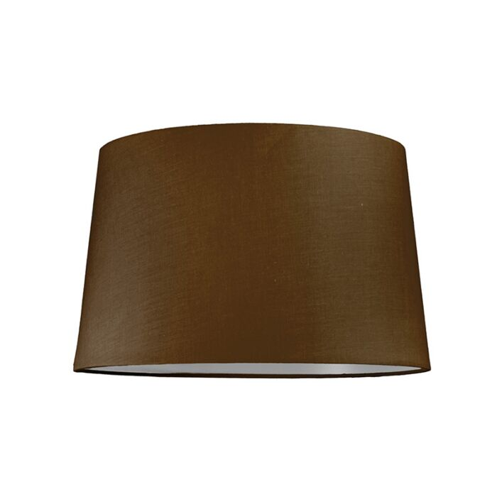 Abat-jour-40cm-rond-SU-E27-brun