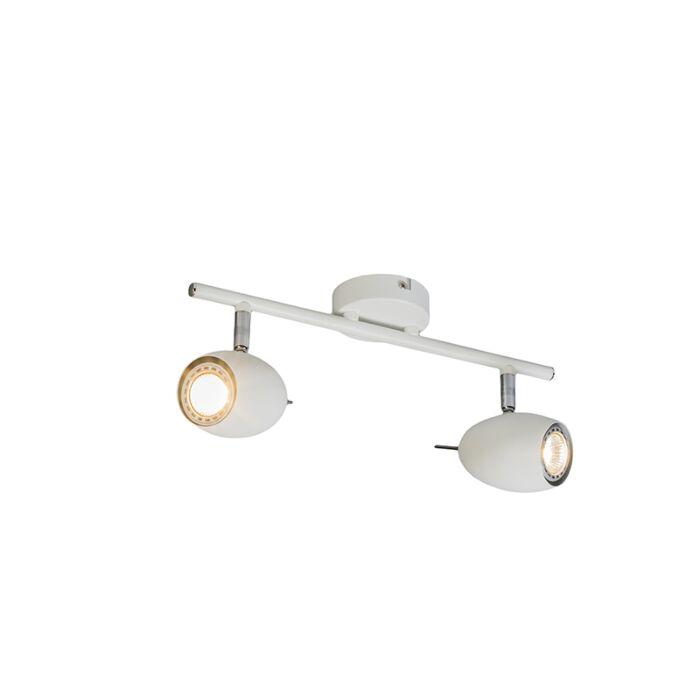 Spot-design-blanc-pivotant-et-inclinable---Egg-2