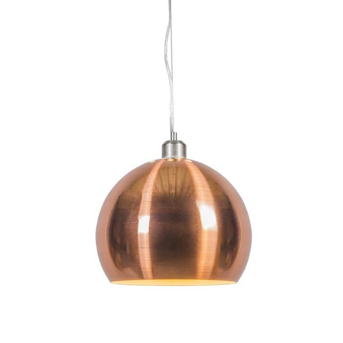 Suspension-Globe-28cm-cuivre-mat