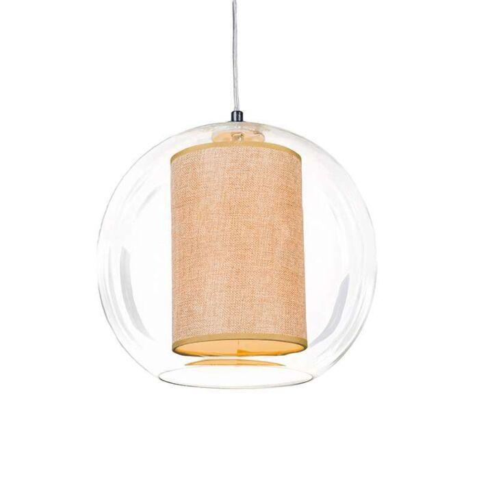 Suspension-Globe-30-avec-voilure-beige