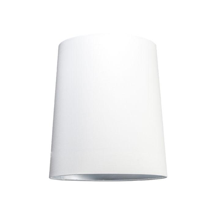 Abat-jour35cm-rond-SU-E27-blanc-argenté
