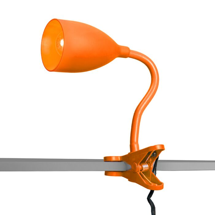 Lampe-à-pince-Young-flex-orange