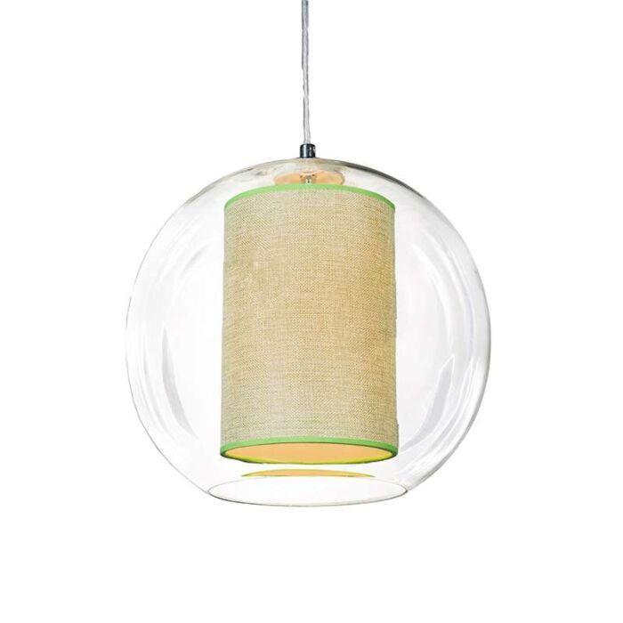 Suspension-Globe-30-avec-voilure-verte