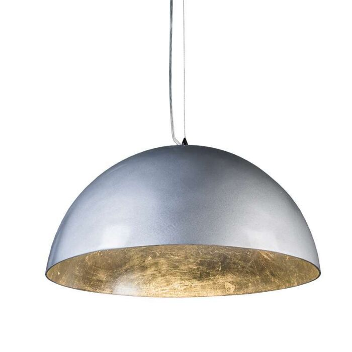 Suspension-Magna-Glossy-55cm-argenté-et-argenté