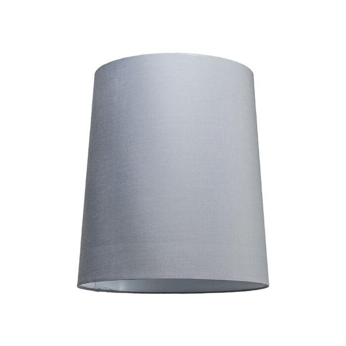 Abat-jour-35cm-rond-SU-E27-gris-blanc