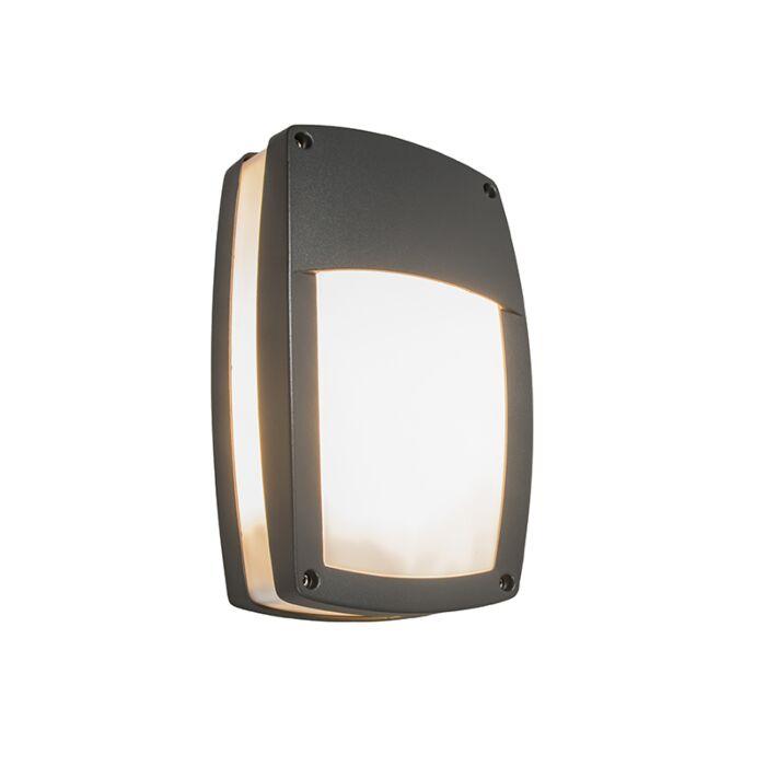 Applique-extérieure-moderne-gris-foncé---Glow-recta-1