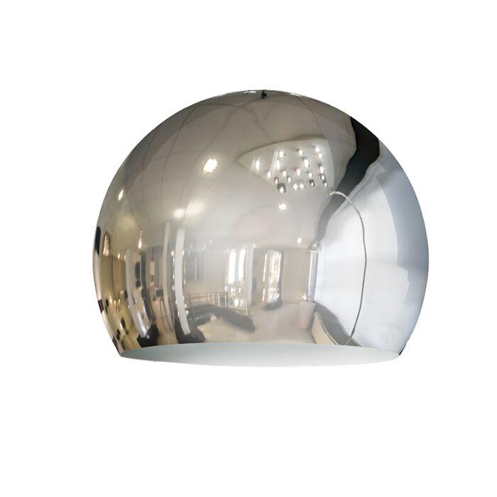 Abat-jour-Globe-28cm-chrome