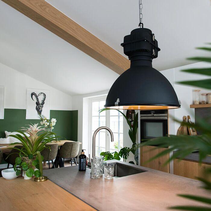 Lampe-à-suspension-industrielle-noire-53-cm---Sicko