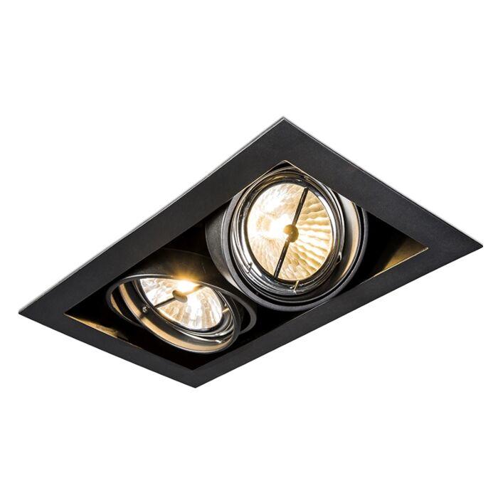 Spot-encastrable-noir-orientable-2-lumières---Oneon-111-2
