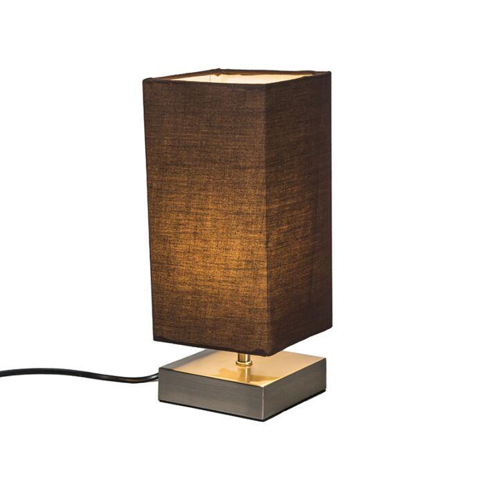 Lampe-de-table-Milo-carré-brun