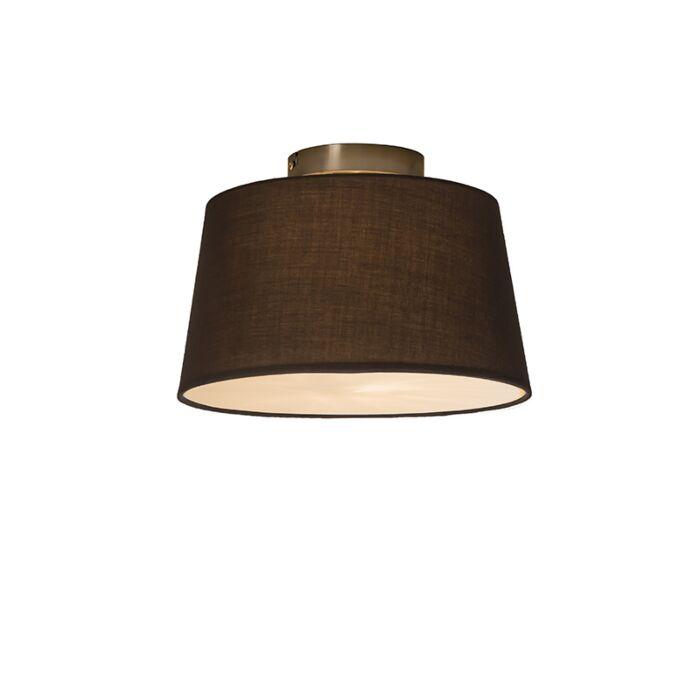 Plafonnier-Combi-30cm-brun-avec-tamiseur