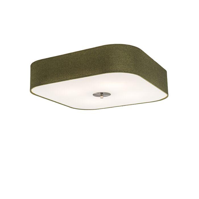 Plafonnier-Drum-deluxe-50-carré-jute-vert
