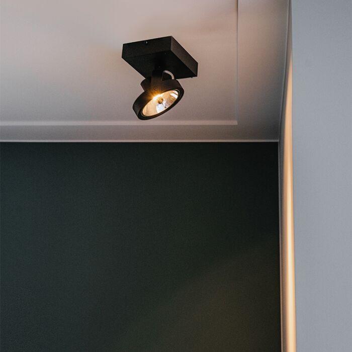 Spot-design-noir-réglable-1-lumière-avec-LED---Go