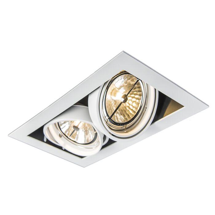 Spot-à-encastrer-blanc-réglable-à-2-ampoules---Oneon-111-2