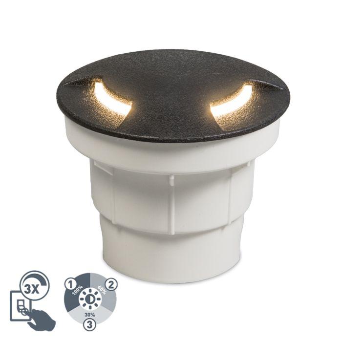 Spot-de-sol-extérieur-moderne-noir-avec-LED-IP67---Ceci-2