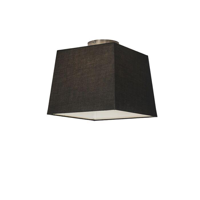 Plafonnier-Combi-30cm-carré-noir