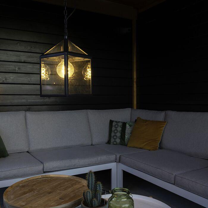 Lampe-suspendue-d'extérieur-industrielle-noire---Amsterdam