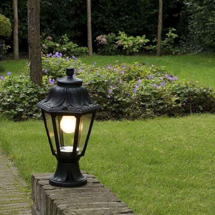 Lanterne-d'extérieur-rurale-noire-IP44---Anna