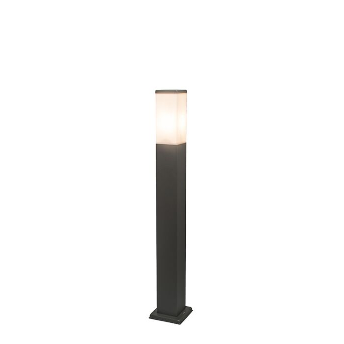 Lampadaire-d'extérieur-moderne-gris-foncé-80-cm-IP44---Malios