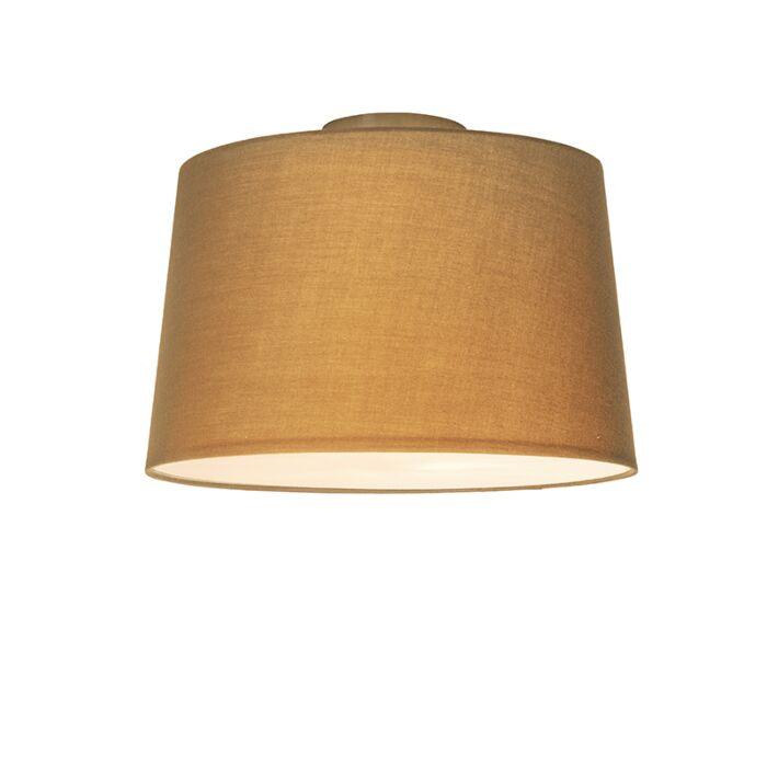 Plafonnier-Combi-40cm-beige-avec-tamiseur
