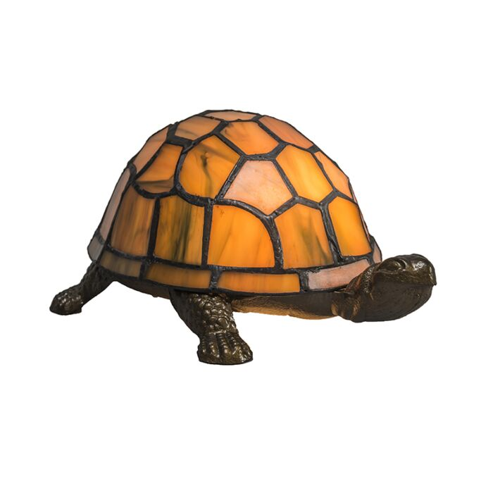 Lampe-de-table-Tiffany-Tortue-ambre