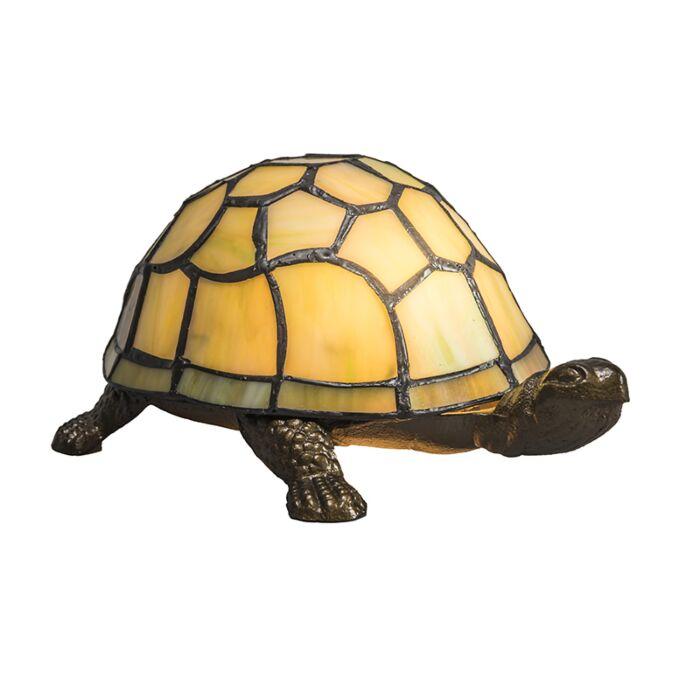 Lampe-de-table-Tiffany-Tortue-jaune