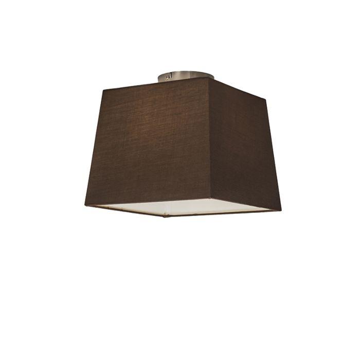 Plafonnier-Combi-30cm-carré-brun